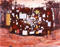 Jules de Balincourt - untitled billboard (dystopia)