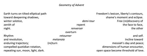 Geometry of Advent - ellipse